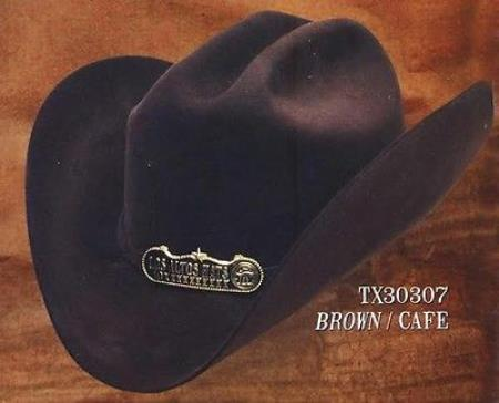 Tejana Cowboy Hat Duranguense Style 10X Felt Hats By Los Altos Brown