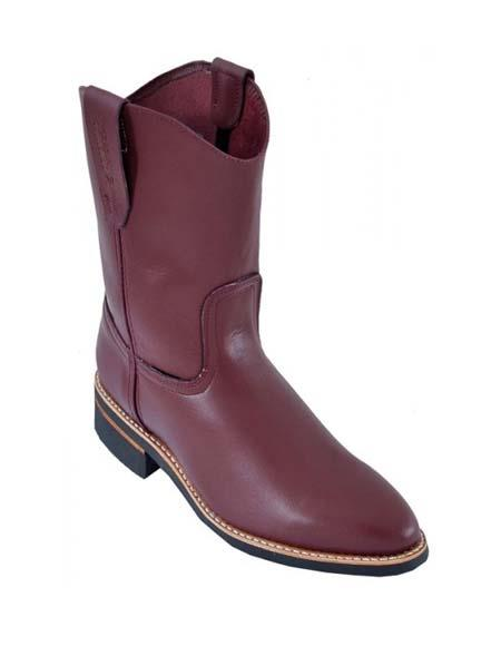 SKU#SM3202 Burgundy ~ Wine ~ Maroon Color Los Altos Mens Genuine Leather Sole Work Boot ~ botines para hombre