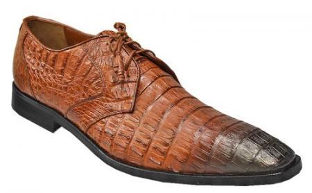 Brown Dress Shoe Los Altos Cognac / Brown Genuine Crocodile ~ World Best Alligator ~ Gator Skin / Lizard Shoes