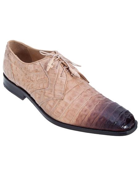 Genuine Oryx Crocodile Caiman Belly Oxfords Dress Los Altos Boots  Shoe