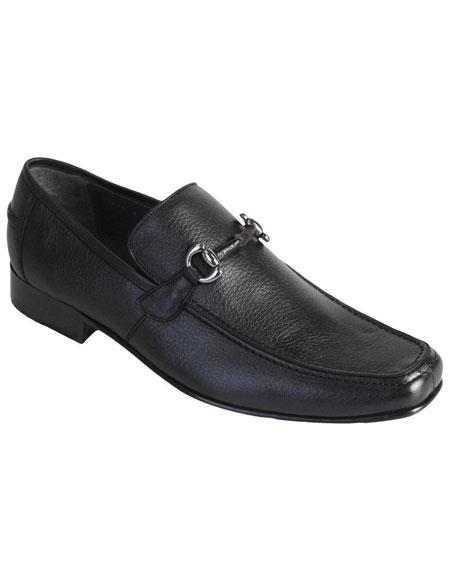 Los Altos Genuine Full Deer Skin Dress Shoes Casual Slip On Stylish Dress Loafer for men