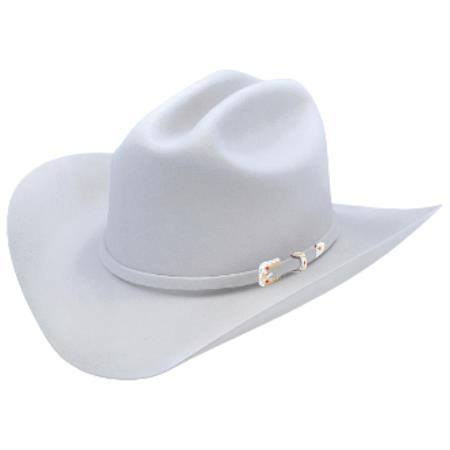 Gray Los Altos Hats Joan Style Felt Cowboy Hat