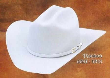 Gray Cowboy Western 4X Felt Hats Texas Style