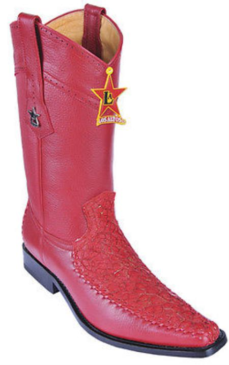 Buy KA25841 Menudo Leather Vintage Riding Red Los Altos Men's Western Boots Cowboy Classics