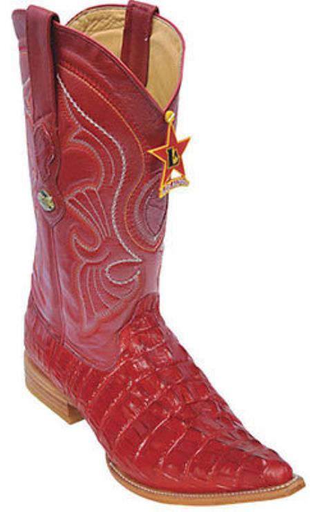 Buy KA0048 Croc Tail Print Riding Red Los Altos Men's Western Boots Cowboy Classics