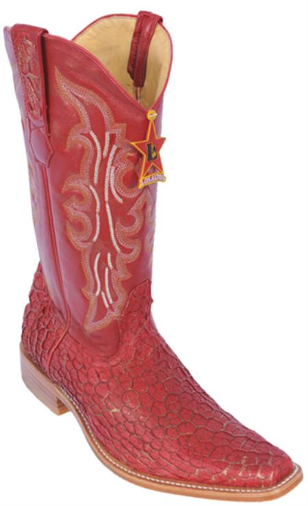 Buy KA5820 Menudo Leather Vintage Riding Red Los Altos Men's Western Boots Cowboy Classics