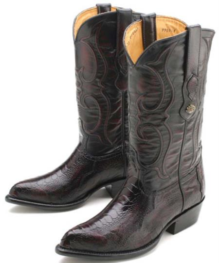 Buy KA2210 Ostrich Leg Black Cherry Los Altos Men's Cowboy Boots Western Classics Riding