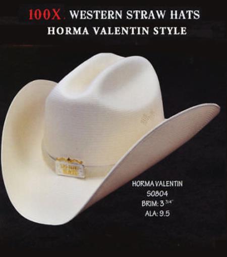 Los Altos Cowboy Western 100X Premium Straw Hat 33e128ab2410