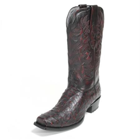 Buy SS-4852 Los Altos Black Stingray mantarraya skin Boot