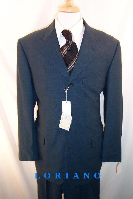 SKU#S083002 Luxeriouse High End UMO Collezion 3Button Super 140 Wool Teal Blue (Lighter Shade) Uniqe $295