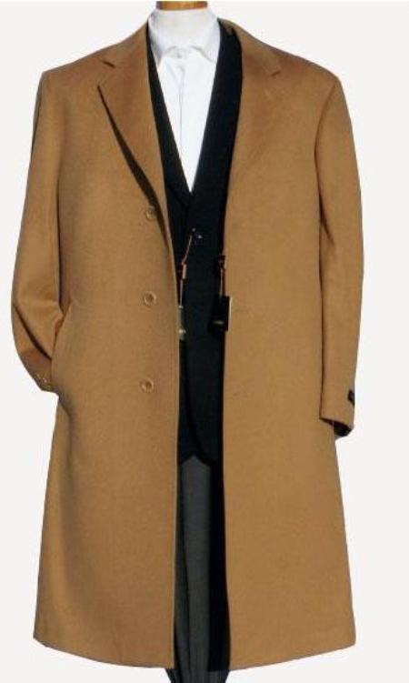 Harward Luxurious Camel ~ Khaki~Bronz soft finest grade of Cashmere & Wool Overcoat $249