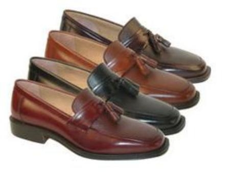 SKU# 65762 Luxurious Soft Leather Mens Dress Shoe Available in Assorted Colors