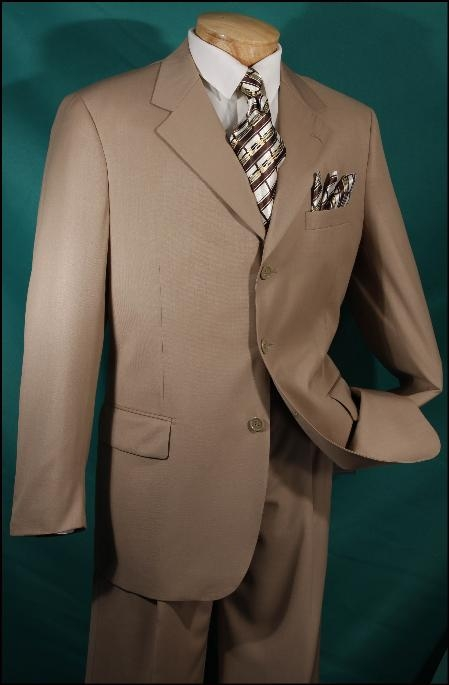 SKU3RR Luxurious wool feel Camel ~ Khaki~Bronz~Khaki - 3 button Single breasted