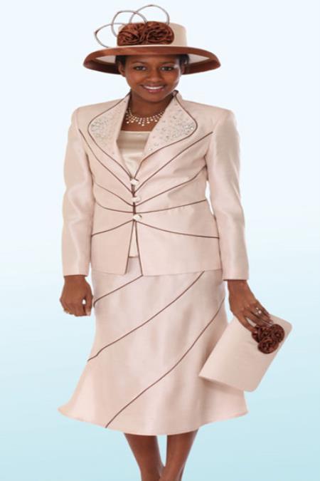 Couture Promotional Ladies Suits-Champgne