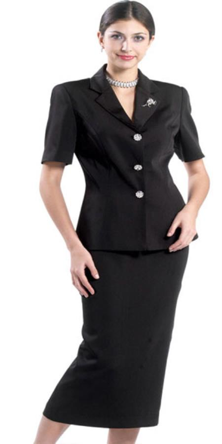 Lynda Couture Promotional Ladies Suits - Black