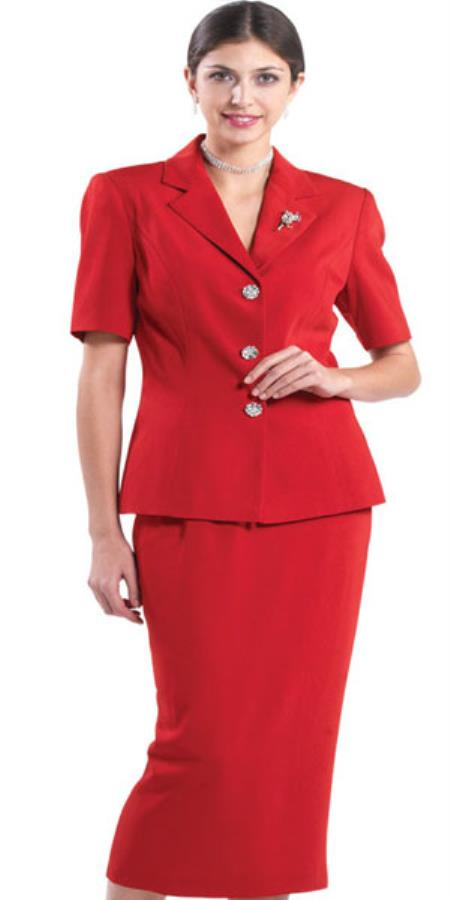 SKU#KA8331 Lynda Couture Promotional Ladies Suits - Red