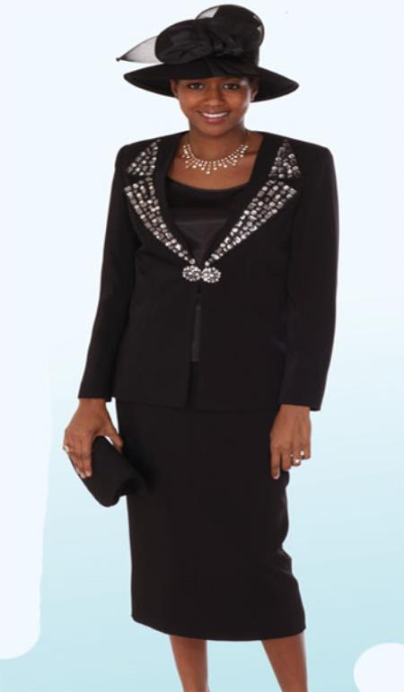 Lynda Couture Promotional Ladies Suits- Black