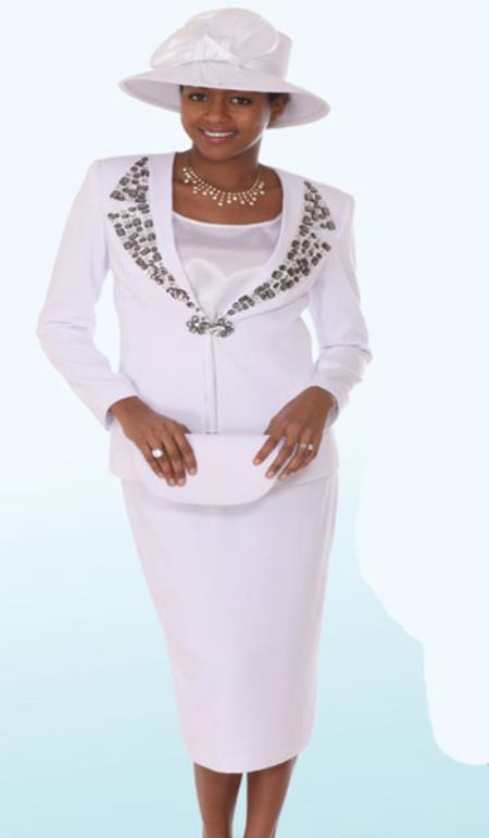Lynda Couture Promotional Ladies Suits- White