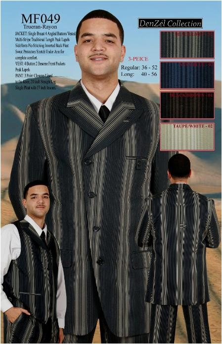SKU#GS45 MENS WIDE STRIPED WIDE LEG ZOOT SUIT $159