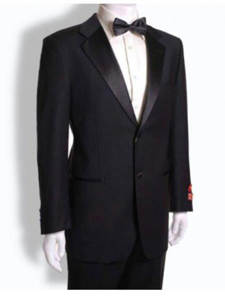 Mens Mantoni  2 Button Suit Black- High End Suits - High Quality Suits