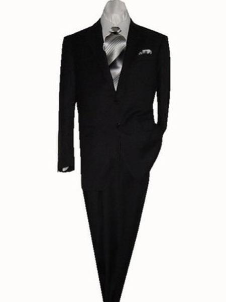 Men's Mantoni 2 Button Suit Black- High End Suits - High Quality Suits