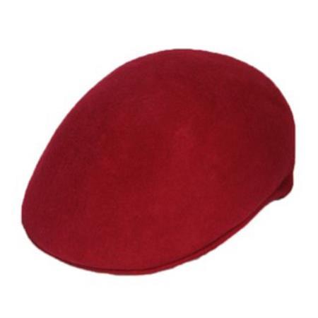 Maroon Wool Cap