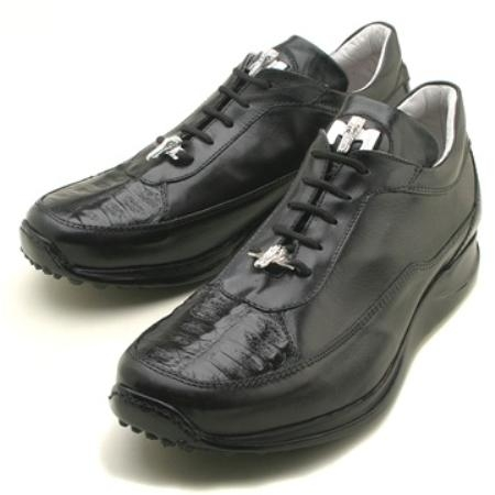 SKU#HF5733 Mauri Black Genuine Crocodile/Nappa $249