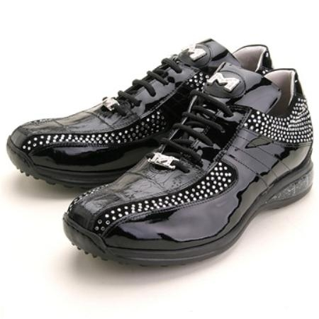 SKU#FX1001 Mauri Black Genuine Crocodile & Patent $349