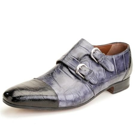 SKU#HH8323 Mauri Black/Grey Genuine Alligator $650