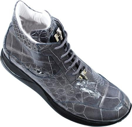 "SKU#HD8611 Mauri ""Bloom""  Medium Grey Genuine All-Over Alligator Sneakers $1349"