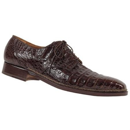 SKU#UB3113 Mauri Brown Genuine Baby Crocodile $1050