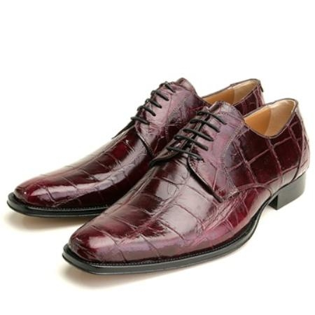 SKU#LM2097 Mauri Burgundy Genuine Alligator $500