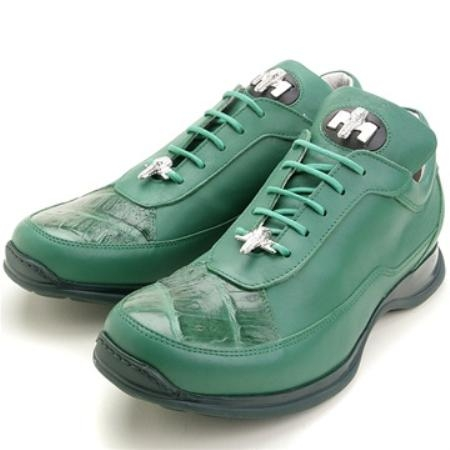SKU#UH8224 Mauri Green, Genuine Crocodile/Calfskin $249