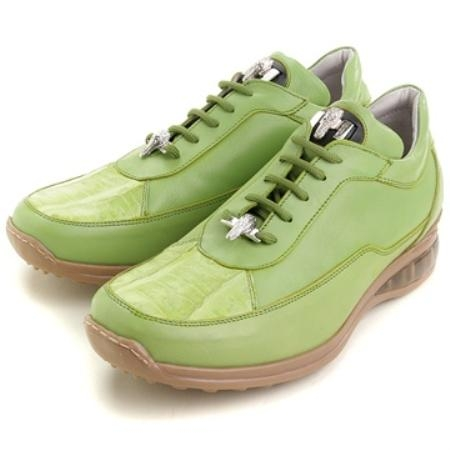 SKU#LP2277 Mauri Lime Genuine Ostrich & Calfskin $249