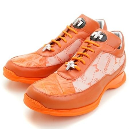 SKU#FG5733 Mauri Orange Crocodile, Calf & Fabric $249