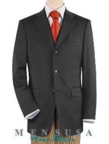 Medium Grey Fully Lined 3 ~ Three buttons Front Jacket Four On Sleeves