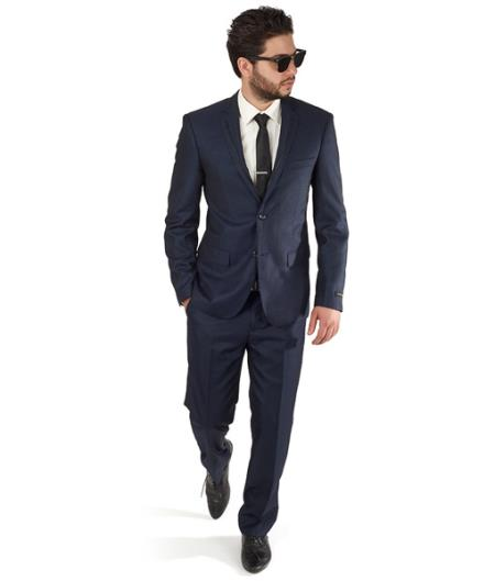 Blue Slim Fit Men