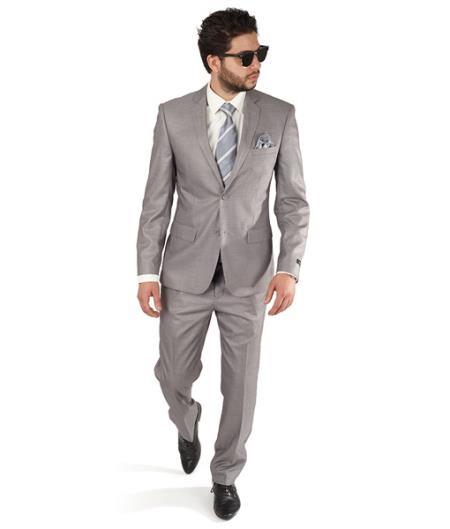 Grey Slim Fit Men