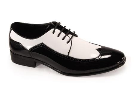 SKU#FR7200 Mens Luxury Shoes Black/White