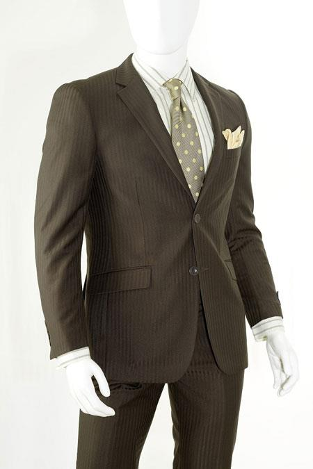 Fit Suits Tonal Stripe