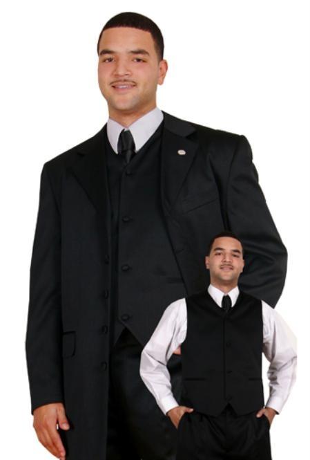 SKU#RS5684 Men Suits Black