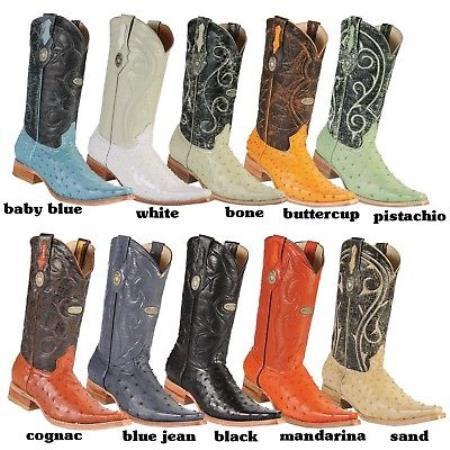 Ostrich Western Cowboy Boots