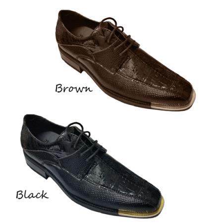 PU Uppers Oxfords Shoes