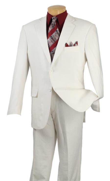 2 Button Suits White