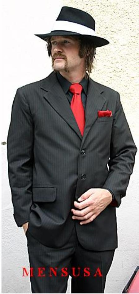 White shirt and red tie