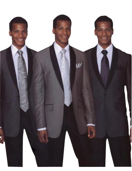 Mens 1 Button Luxurious Wool Feel  Slim Fit Black, Grey & Dark Navy Cheap Priced Business Suits Clearance Sale