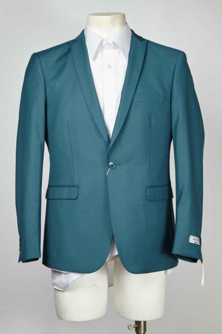 Mens Teal Cheap Priced Designer Fashion Dress Casual Blazer