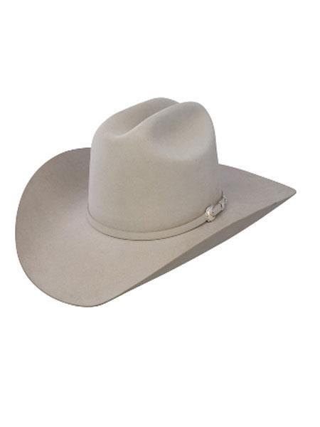 7911c1fe Stetson Hats-10x Tejana Shasta Beaver Fur Felt Western Cowboy Hat-Mist Gray