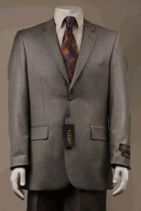 Big and Tall Size 56 to 72 2-Button Suit Textured Patterned Sport Coat Fabric Beige
