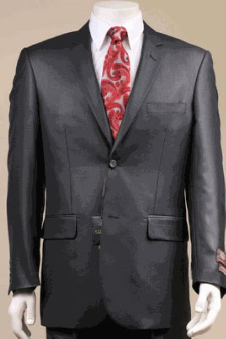 Big and Tall Size 56 to 72 2-Button Suit Textured Patterned Sport Coat Fabric Black